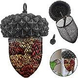 LAVAGO Acorn Hanging Wild Bird Feeder,Hanging Mesh Ball Bird Feeder,Outdoor Wild Bird Peanut Sunflower Seed Feeder