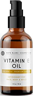 Vitamin E Oil by Kate Blanc. Moisturizes Face and Skin. 28,000 IU. Reduce Appearance of Scars, Wrinkles, Da...