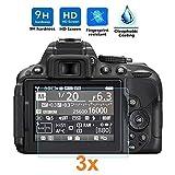 [Lot de 3] Verre Trempé pour Nikon D5300 - D5500 - D5600, Protecteur d'écran...
