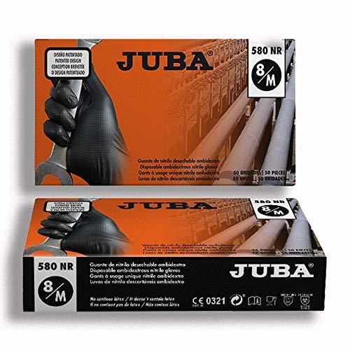 Juba Guante Desechable Nitrilo Ngr.Grippaz 580 Nr M