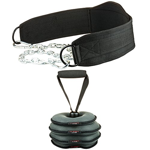 C.P.Sports Dip-Gürtel (Dipgürtel, Dippgürtel) Trainingsgürtel inkl. verstellbarem Gewicht (nur Kettlebell)