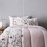 Amazon Basics Ultra-Soft Light-Weight Microfiber Reversible Comforter Bedding Set - Twin/Twin XL, Pink Floral