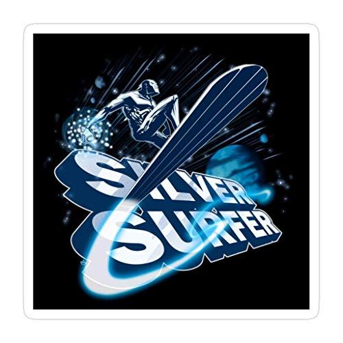 DKISEE 3 piezas Silver Surfer – Pegatinas troqueladas de 4 pulgadas para laptop, ventana, coche, parachoques, botella de agua