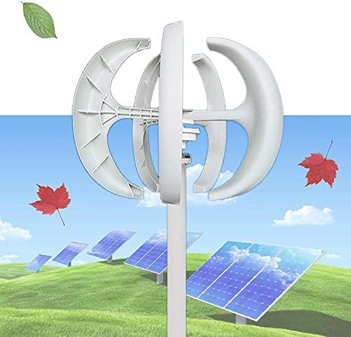 wsbdking Turbina de Viento 1 2V / 24V, Generador de energía eólica 10 0W / 200W / 300W con 5 Cuchillas Linterna Vertical con Controlador de florero Adaptador para suplemento de la Potencia del jardín
