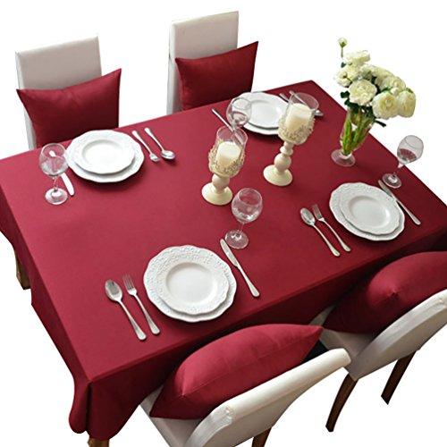 NiSeng Tovaglia da tavola in poliestere, Tovaglie Antimacchia Tovagliato ristorazione Tovaglia a quadri rettangolare tinta unita Chiaretto 140x250 cm