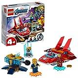 LEGO 76170 Marvel Avengers Iron Man vs. Thanos Juguete de construcción con Mini Figuras de Superhéroes para Niños +4 años