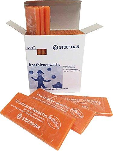 Stockmar Knetbienenwachs - Einzelfarben - 15 Tafeln 100x40x6 mm, Orange