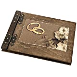 Aldecor Livre d'or avec couvertures en bois pour mariage