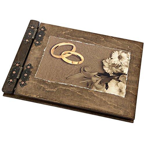Aldecor Hochzeitsgästebuch Gästebuch zur Hochzeit Holzalben sind aussergewöhnliche Geschenke