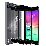 3 Pack LK Screen Protector Compatible for LG K20 Plus, LG K20 V, LG K10 2017, Full Cover Tempered Glass - Black