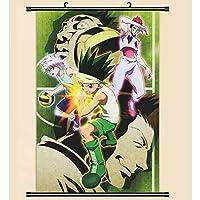 アニメスクロール絵画漫画のキャラクターハンギングポスター家の装飾壁ポスター絵画アニメファンギフトハンター×ハンター 50x75cm