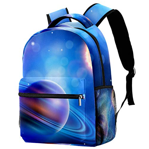 Galaxy Starry Sky Bright Planets Sun Backpack for Teens School Book Bags Travel Casual Daypack