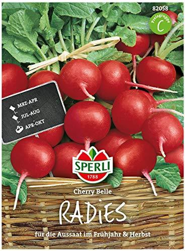Sperli Premium Radieschen Samen Cherry Belle ; Frühreifend, Mild, dünne Schale ; Radieschen Saatgut