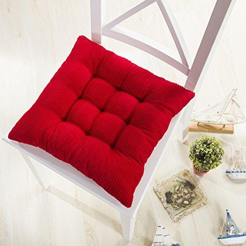 Cojín de la silla,Cojín de sofá Pana Colchón de harina de maíz Rojo 40x40cm(16x16inch)