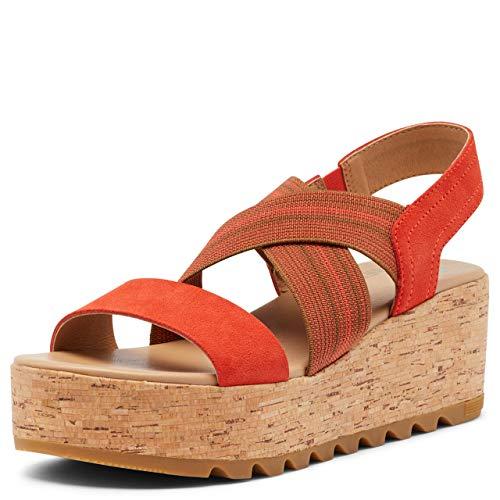 Sorel Women's Cameron Flatform Slingback Sandal - Signal Red - Size 8.5
