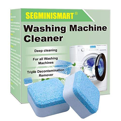 SEGMINISMART Pulitore per lavatrice, solido per lavatrici, compresse detergenti, detergenti per compresse effervescenti, rimozione profonda per bagno e cucina