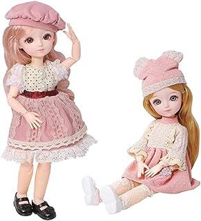 Kloware 31cm BJDドール ガールドール 23関節人形 ビニール製 シューズ 洋服付き お嬢さん人形 女の子 おもちゃ 2個セット