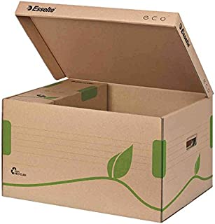 ESSELTE Lot de 5 Containers Archive ECO 100% Recyclé (L)345 (H)439 x (P)242 mm