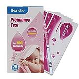 Wondfo 20 x Schwangerschaftsteststreifen zur Früherkennung von Urin, Kit mit 20 Tests, First Response (20HCG)