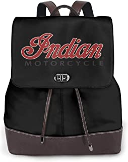 Mochilas tipo casual Mochilas de marcha 17 Inch Leather Backpack in-dian Motor-Cycle Business School Laptop Backpack Travel Shopping Bag for Women