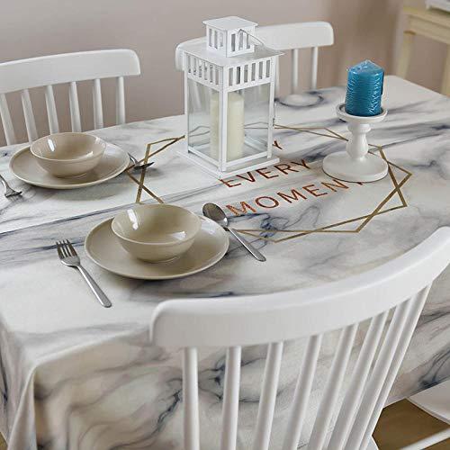 Tafelkleedset met tafelkleden en servetten, tafelkleed, tafelkleed, linnen stof, Nordic Ins, mode, rechthoekige print, handdoek, omslag met witte rand (OVA)