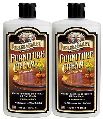 Parker & Bailey Furniture Cream with Lemon Oil, 16 oz, 2 Pack Set