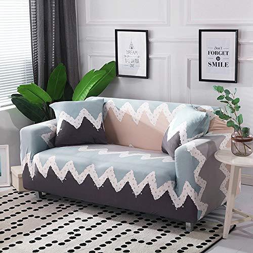 WXQY Funda de sofá con diseño de Hoja nórdica, Funda de sofá elástica para Sala de Estar, Funda de sofá Universal para Mascotas, Funda de sofá Individual para el hogar A17 de 4 plazas