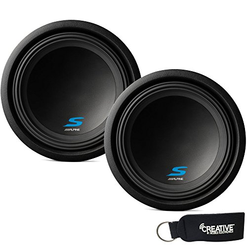 """Alpine Subwoofer Package - Two S-W12D4 S-Series 12"""" Dual 4-Ohm Subwoofers"""
