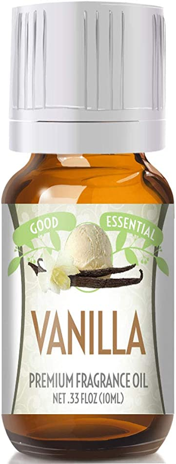 Vanilla Scented Oil by Good Essential (Premium Grade Fragrance Oil) - Perfect for Aromatherapy, Soaps, Candles, Slime, Lotions, and More!