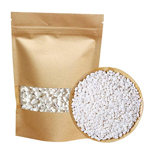 Mini White Rocks Stones Decorative Pebbles Vase Fillers Succulents Cactus Bonsai DIY Plant Rocks Garden Outdoor Indoor Gravel for Aquarium, Fish Tank, Terrarium, Fairy Gardening, Top Dressing 2.2-lbs
