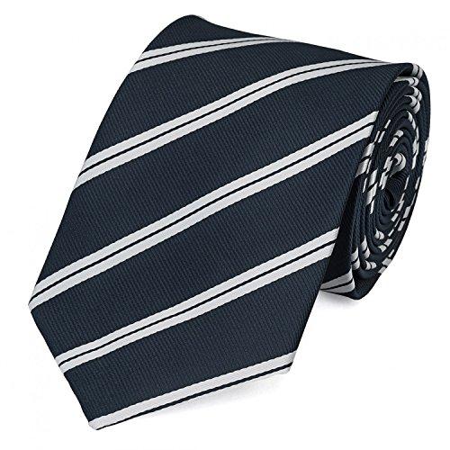 Fabio Farini corbatas Elegante hombres 8cm empate, muchos colores a elegir, Negro con rayas blancas