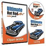 Hot Rod Cars Clipart-Vinyl Cutter Plotter Images-Vector Clip Art Graphics CD-ROM