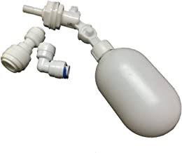 PureSec 2018 MFS2 Mini White Plastic Quick Fitting Adjustable PVC Float Shut Off Valve for tubing OD 1/4