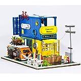 N\C Casa de muñecas en Miniatura DIY Muebles de casa de muñecas de Madera Bistro House decoración navideña Juguetes para niños Regalo de cumpleaños