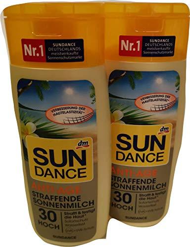 2 x 200 ml Sun Dance Anti-Age Straffende Sonnenmilch LSF 30