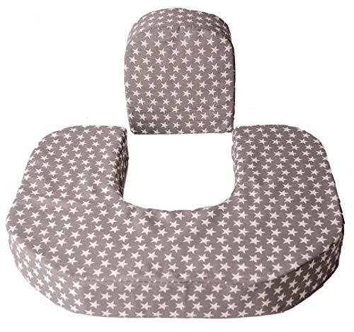 Sonora Baby cojín de lactancia gemelar, almohada de lactancia, con cojín accesorio que cuida tu espalda. Hecho a mano