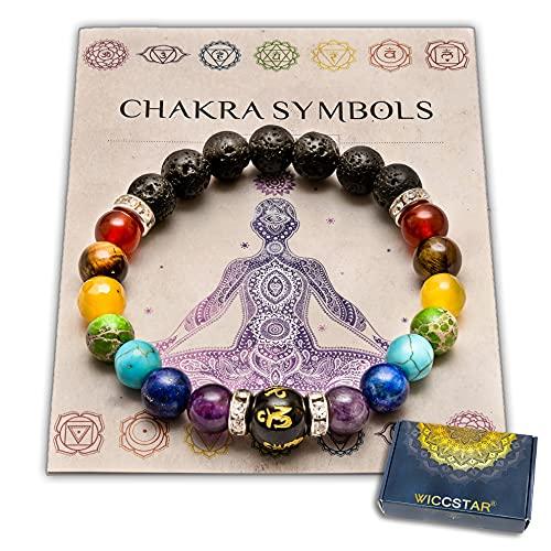 Pulsera Doble de 7 Chakras Joyas curativas de Christal