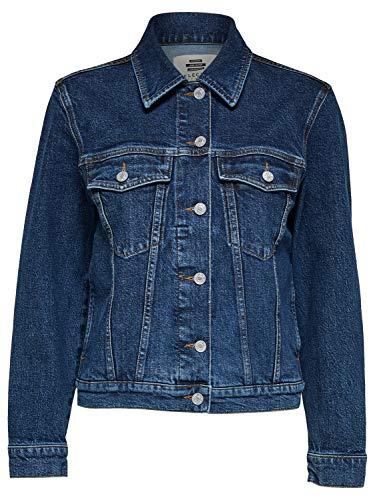 SELECTED FEMME Damen SLFSTORY Spruce Jacket W Jeansjacke, Medium Blue Denim, 38