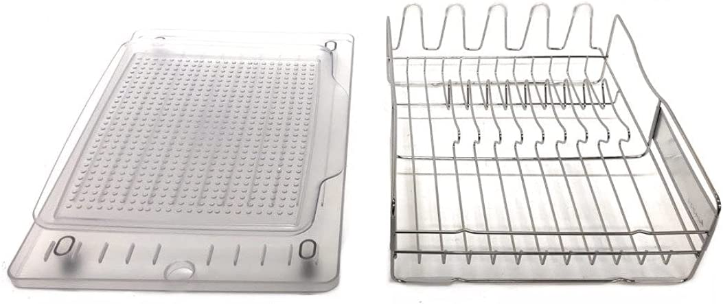 Polder Stainless Steel Dish Silver SEAL limited product Rack 14-inch Clear Max 56% OFF