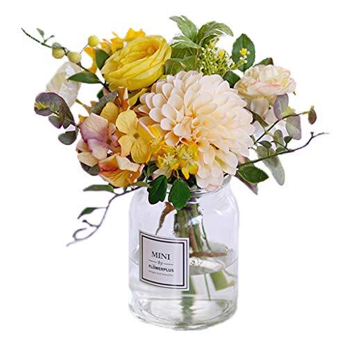Kunstmatige Bloemen En Vaas Boeketten gemengde kleur Rozen In Home And Kitchen Bouquet Decoration (Color : A)