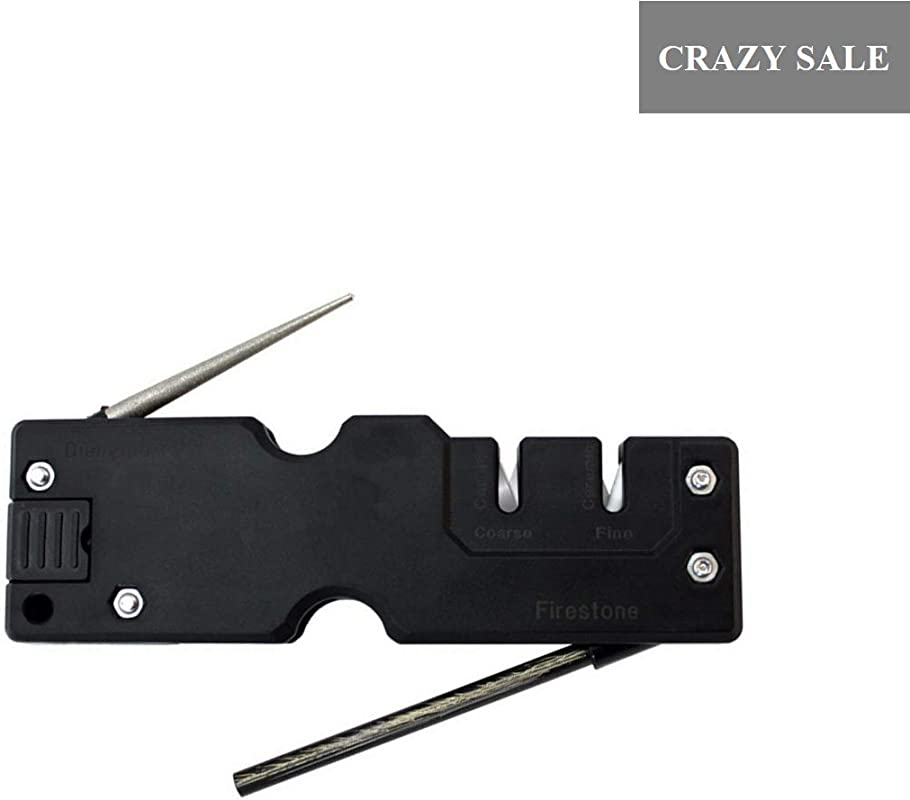 DarkForest 4in1 Multifunctional Knife Sharpener With Diamond Rod Carbide Coarse Sharpening Ceramic Fine Honing And Fine Starter