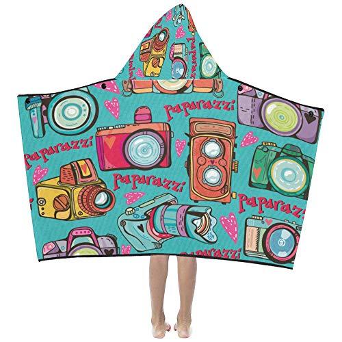 Kids Weighted Blanket Art Musikinstrument Graffiti Kids Hooded Blanket Badetücher Wrap Wrap für Kleinkind Kind Mädchen Junge Home Travel Sleep Kinder Größe Decke