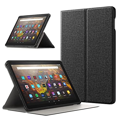 TiMOVO Funda Compatible con All-New Fire HD 10 & Fire HD 10 Plus Tablet (10.1', 11th Generation, 2021 Release), Cubierta Protectora con Soporte Plegable (Auto Sueño/Estela), Denim Negro