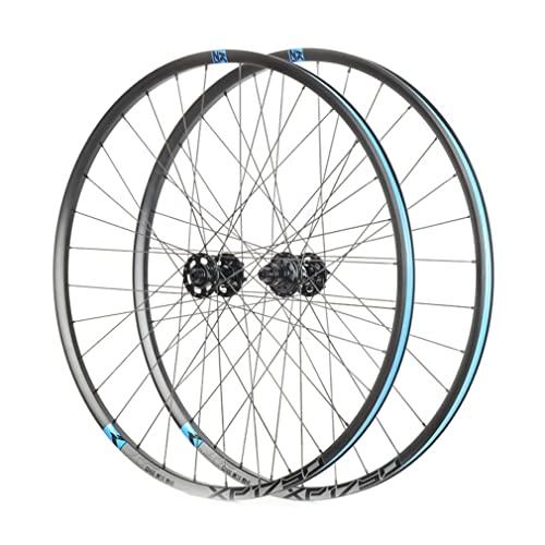 LSRRYD 26/27.5/29' MTB Set di Ruote Freno A Disco Bici Cerchio Rilascio Rapido Bicicletta Ruote 32 Fori Mozzo per 11/12 velocità 1670g (Color : Blue, Size : 29'')