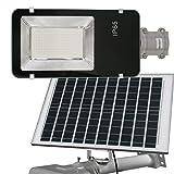 Jandei - Farola solar 200W panel orientable 6000K exterior ion-litio panel 25W