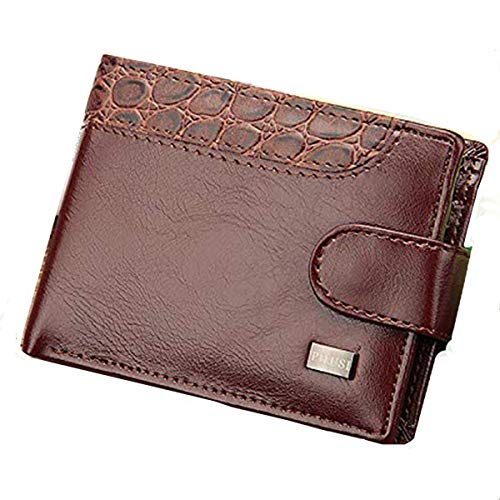 male wallets Vintage Leather Hasp Small Wallet Coin Pocket Purse Card Holder Men Wallets Money Cartera Hombre Bag Male Clutch (Brown)