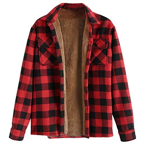 ZAFUL casual fleece jack unisex heren trekkoord met capuchon mantel fuzzy hoodie