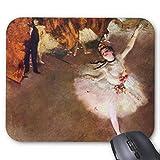 Drempad Gaming Mauspads Custom, Prima Ballerina, Rosita Mauri by Edgar Degas Mouse Pad 11.8'*9.8'