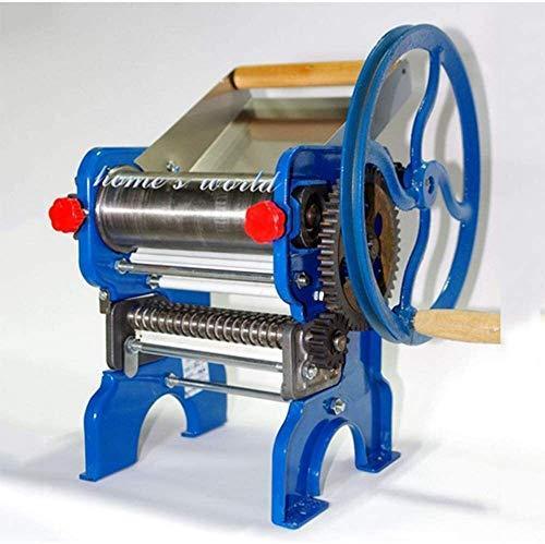 WSJTT Pasta Maker Machine - Fabrication Robuste en Acier avec Easy Lock Dial Et Poignée en Bois