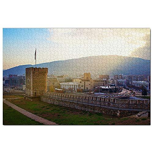 Boerenkool Fort Skopje Macedonië Puzzel 1000 Stuk Legpuzzel Voor Volwassenen Game-illustraties Reizen Souvenir Houten